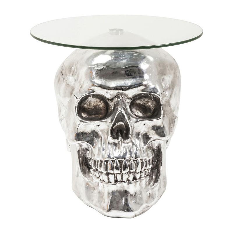 Design Bijzettafel Chroomglas.Kare Design Big Skull Visible Bijzettafel Schedel Chroom Lumz