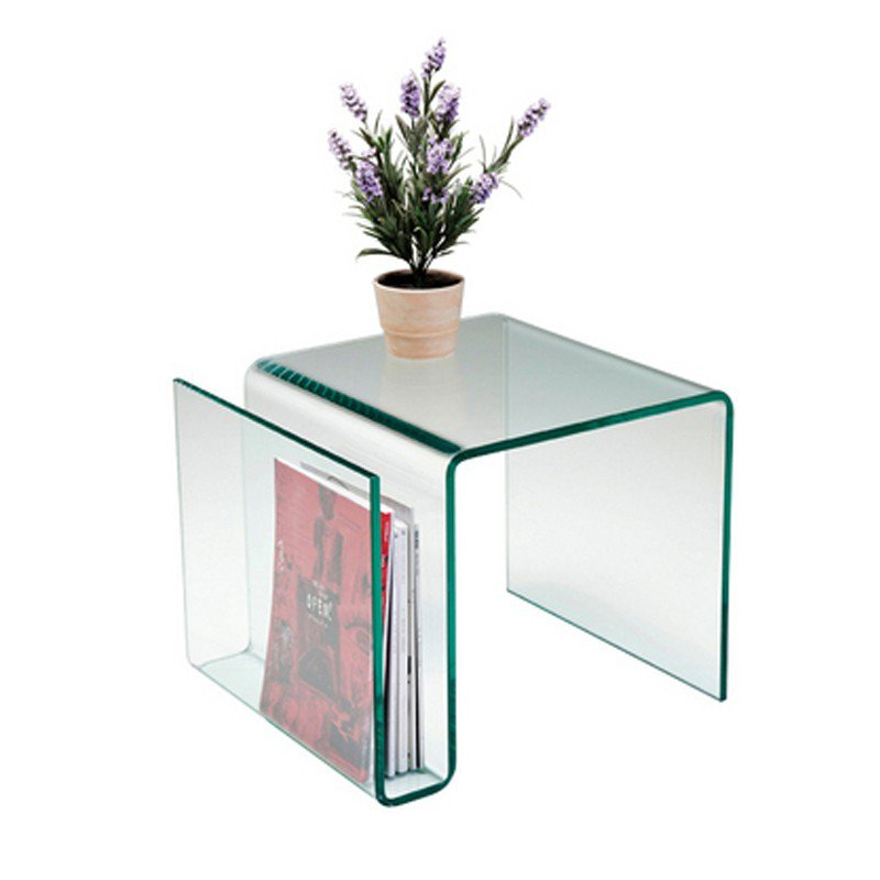 Bijzettafel glas Clear Club N