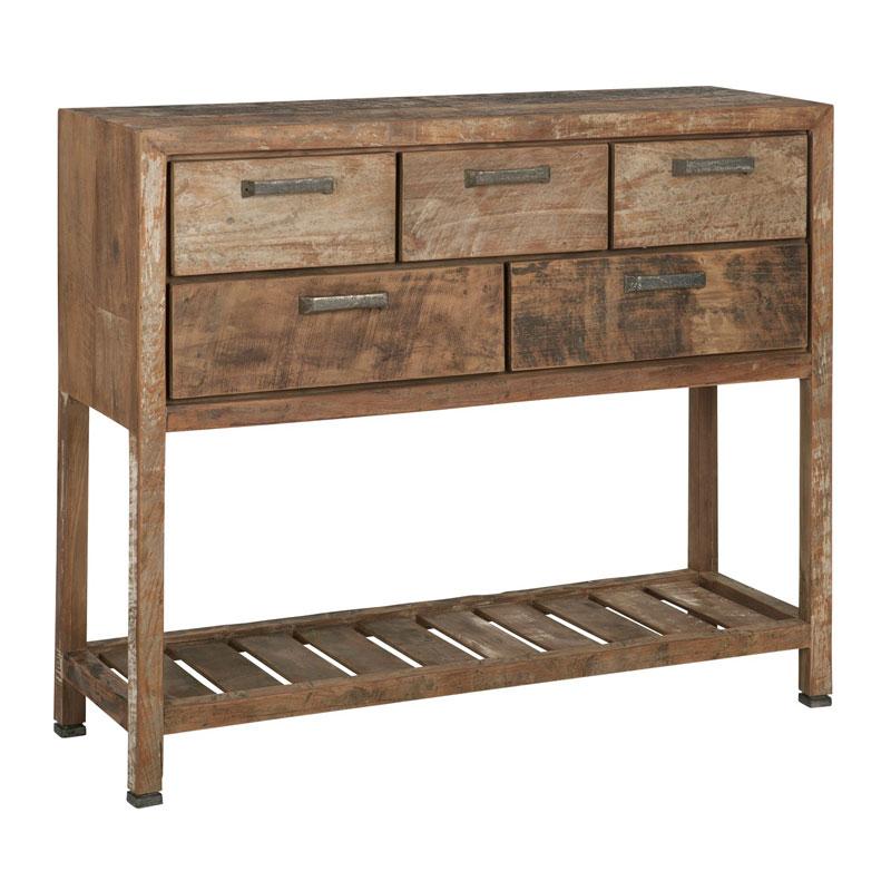Hoge Side Table.Hoge Sidetable Van Teakhout