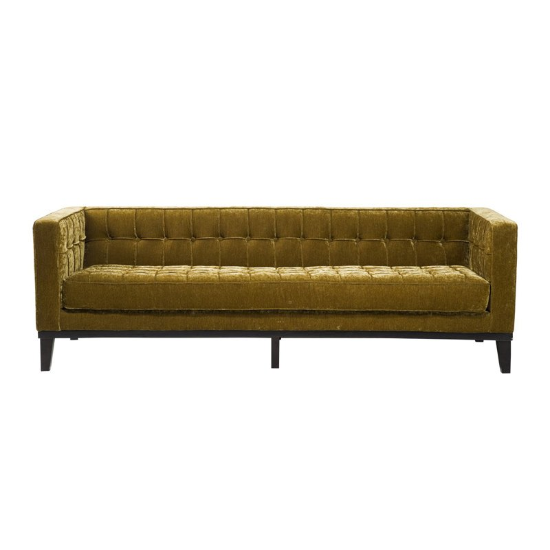 Driezits sofa fluweel