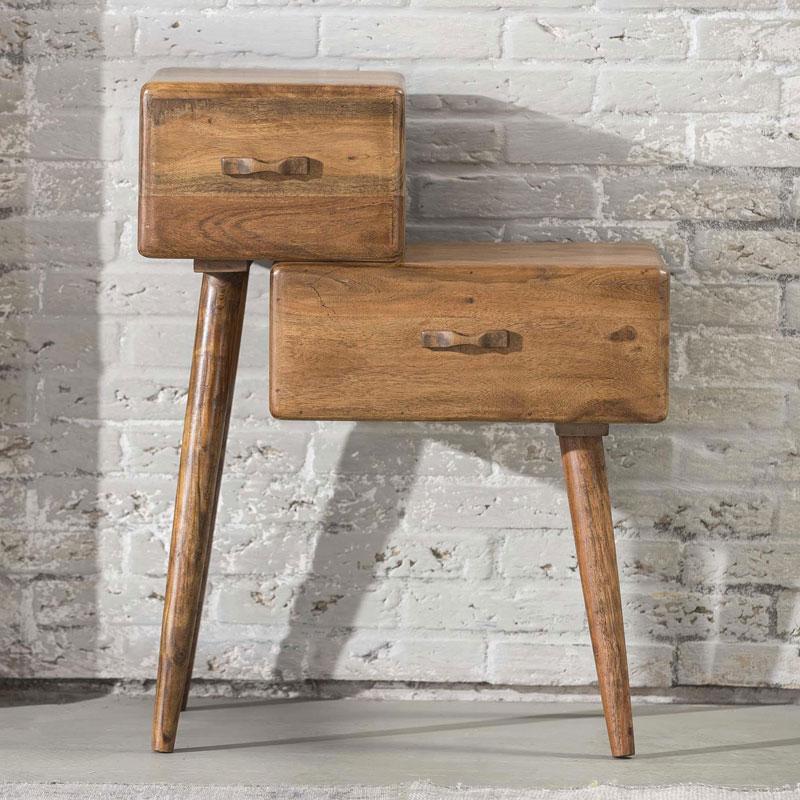 Spiksplinternieuw Nachtkastje hout met lades | Giani Cubo | LUMZ EW-09