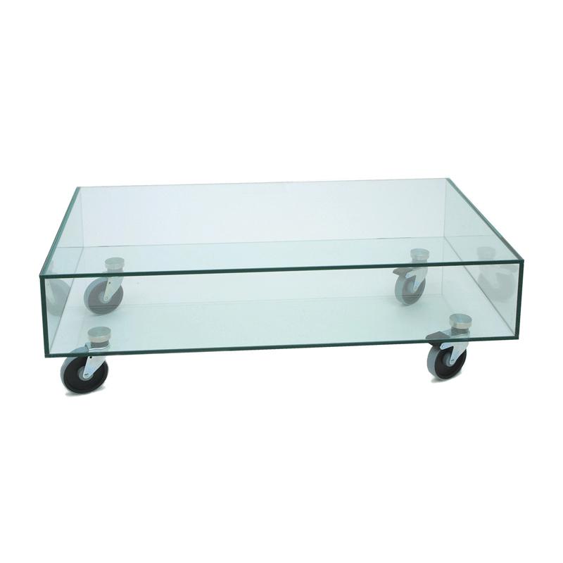 Glazen Salon Tafel.Glazen Salontafel Met Wielen Adele M Onlinedesignmeubel Be
