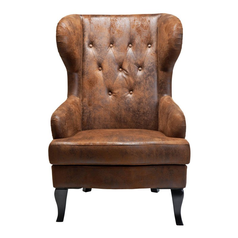 Grote fauteuil bruin