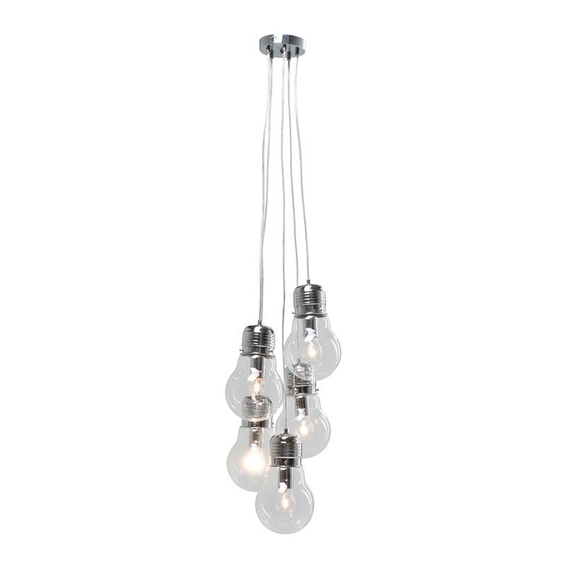 Hanglamp Five Bulbs Clear