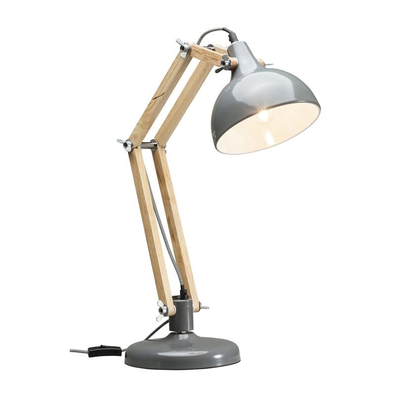 Houten bureaulamp Work Station G