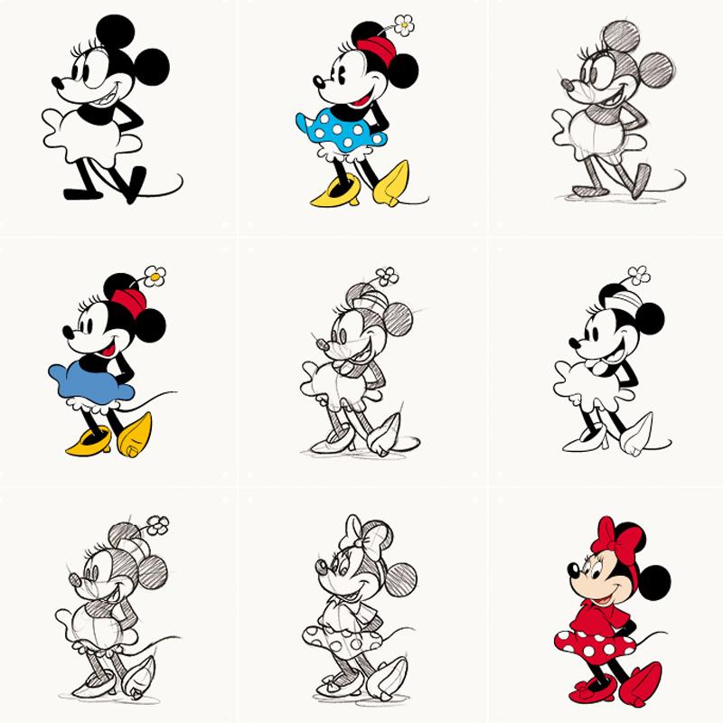 Muurdecoratie Minnie Mouse
