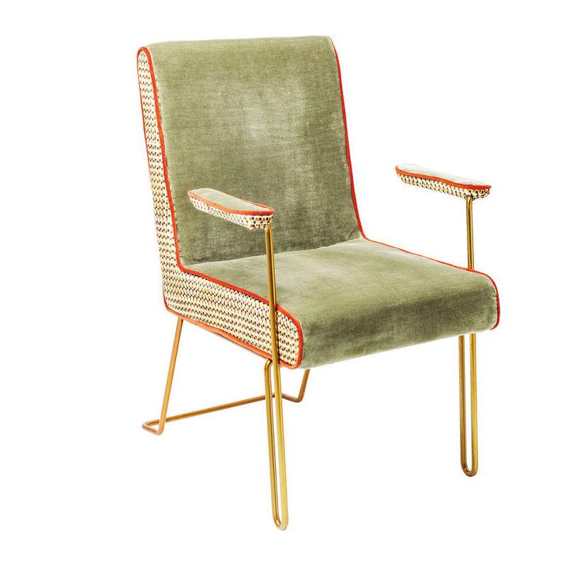 kare design aunt betty retro stoel met goud lumz. Black Bedroom Furniture Sets. Home Design Ideas