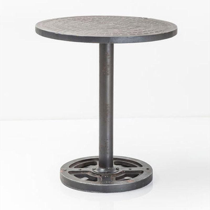 Ronde Metalen Salontafel.Ronde Metalen Bijzettafel 70cm Kare Design Profile