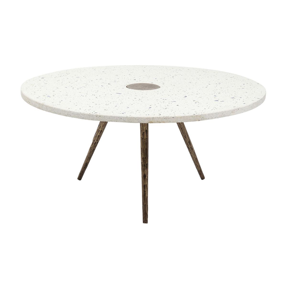 Ronde salontafel wit beton