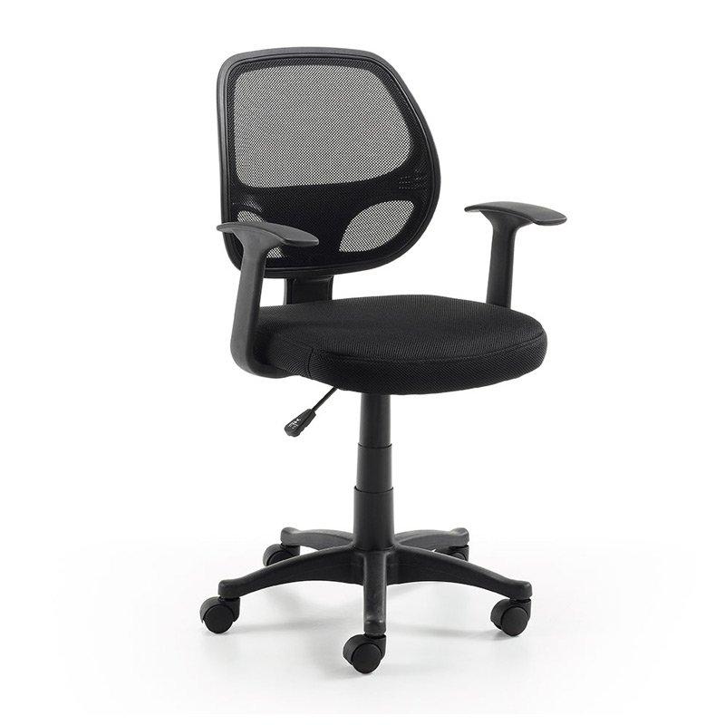 Verstelbare Bureaustoel Zwart.Kave Home Atta Verstelbare Bureaustoel Zwart Laforma Acta C056j01 Lumz