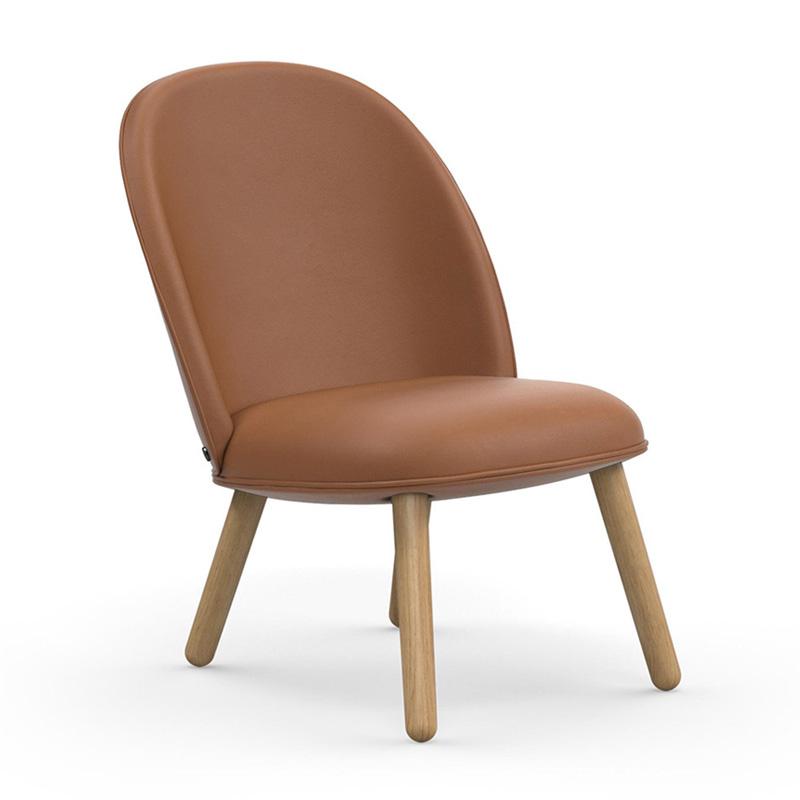Design fauteuil van leder