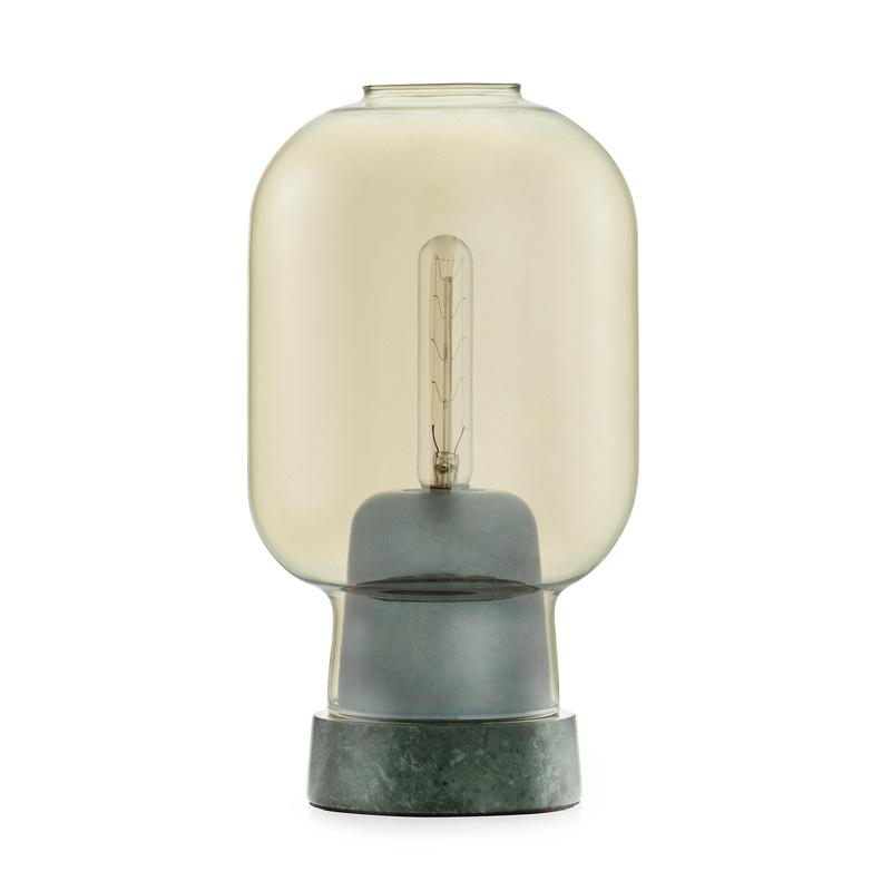 Tafellamp van marmer en glas