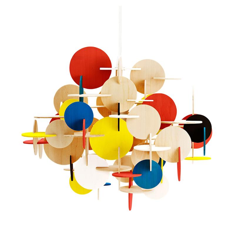 Houten design hanglamp