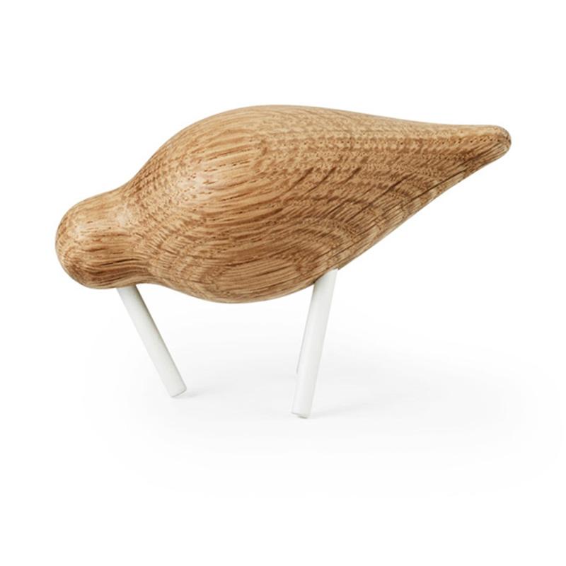 Vogel decoratie van eikenhout