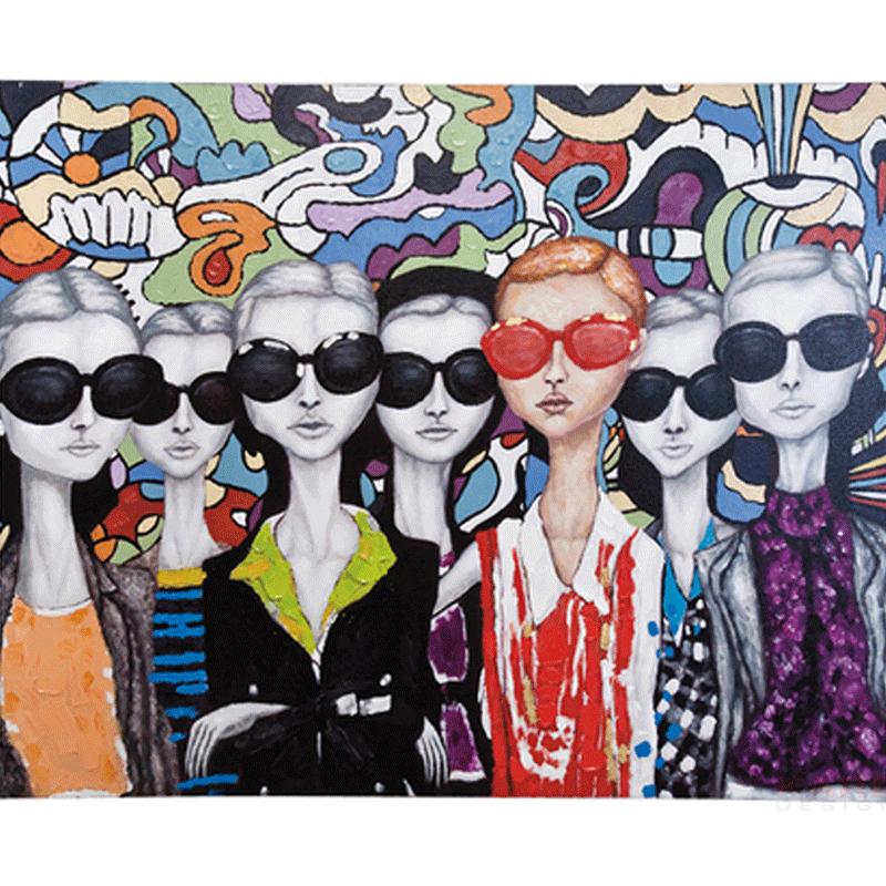Olieverf schilderij Sunglasses