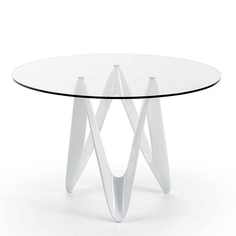 Ronde design eettafel van glas