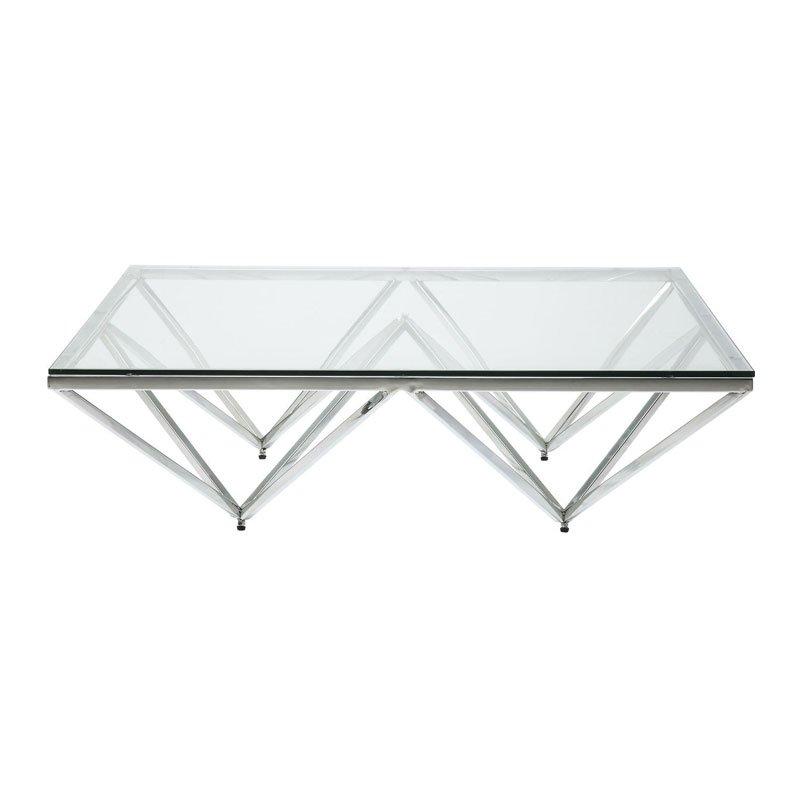 Salon Tafel Glas Metaal.Design Salontafel Met Glas