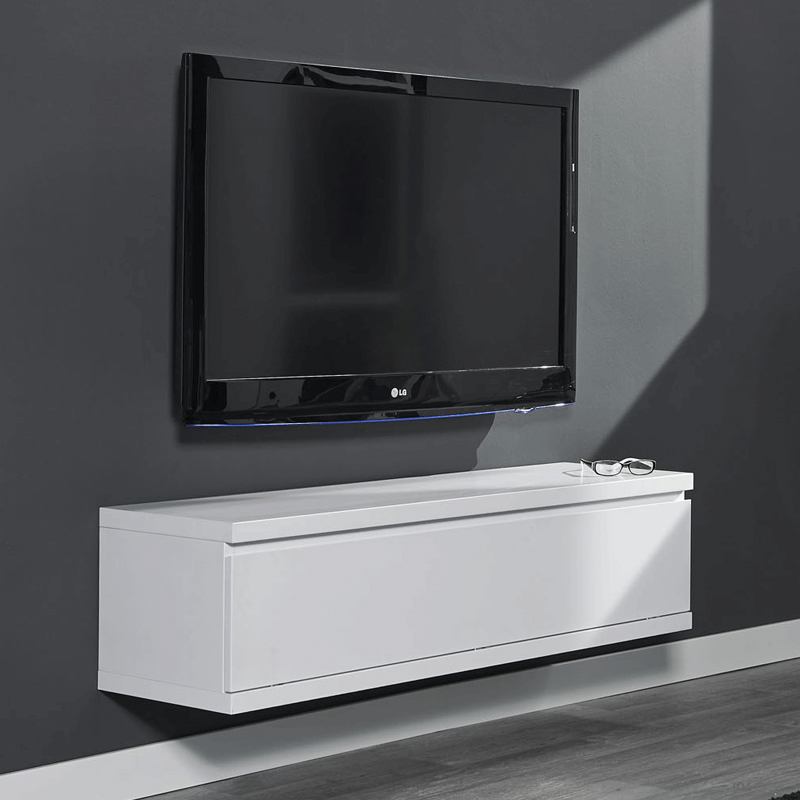 Hangend tv meubel wit Giani Laret 120 M