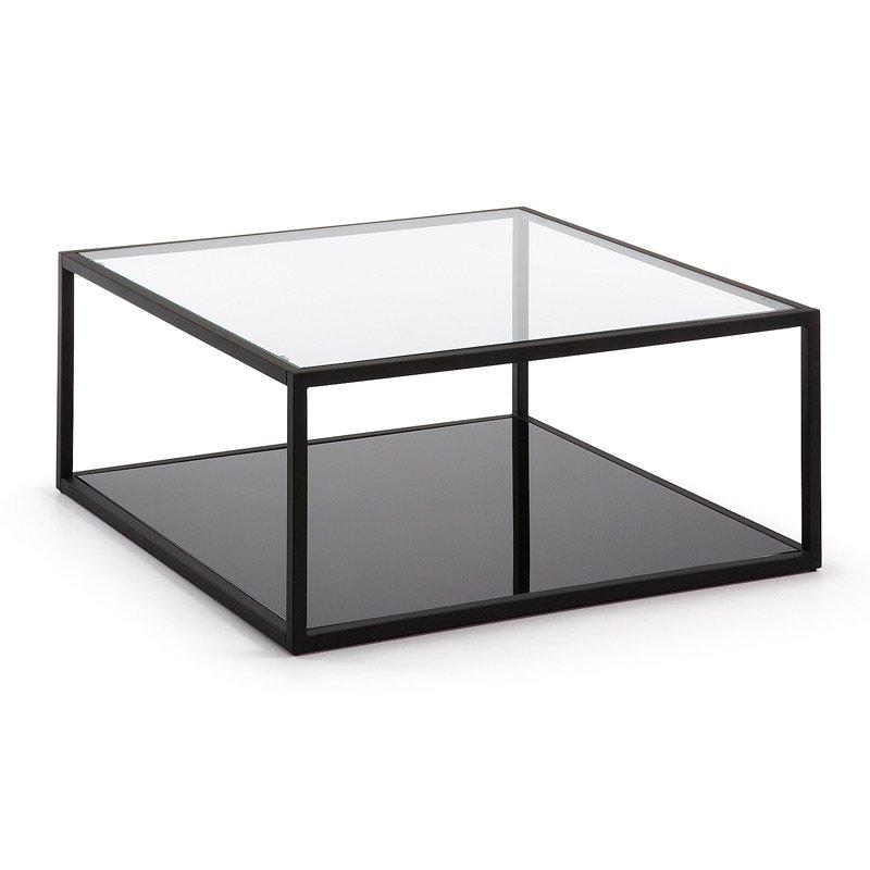 Vierkante Salontafel Met Glas.Vierkante Salontafel