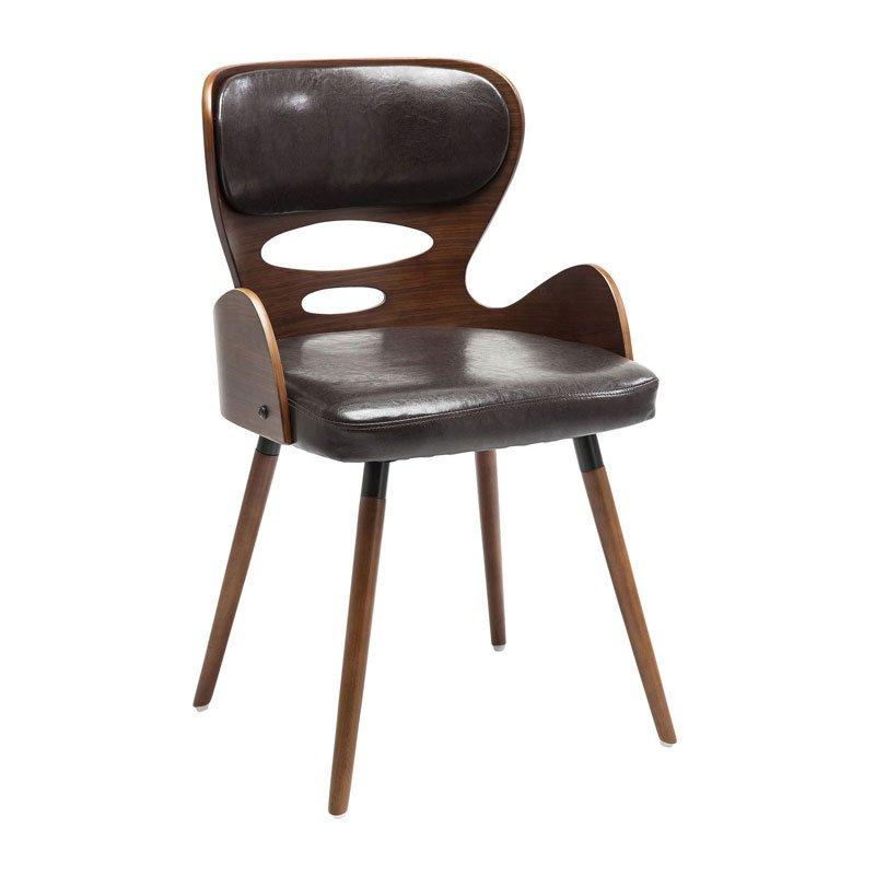 Vintage stoel walnoot East Side