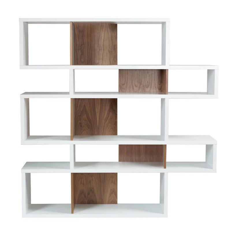 Design boekenkast wit 160 cm