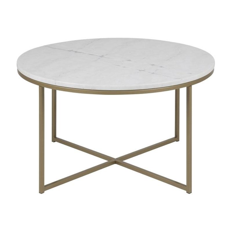 Bekend Zactona Marmor | Ronde salontafel met marmer blad wit | LUMZ #JN25