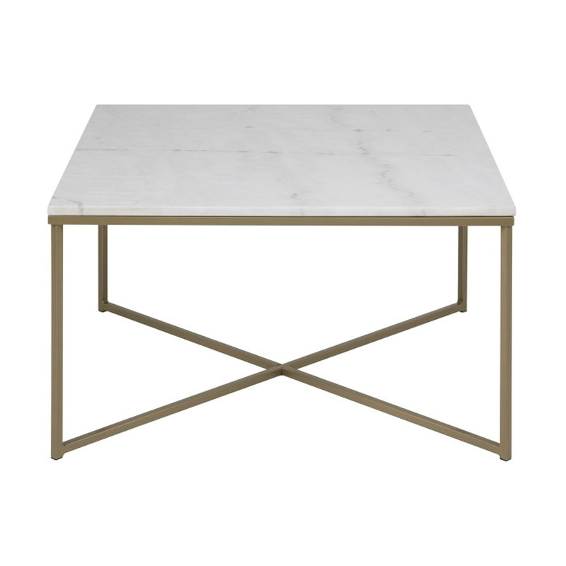 Top Zactona Marmor | Vierkante salontafel met marmer blad wit | LUMZ #IW29