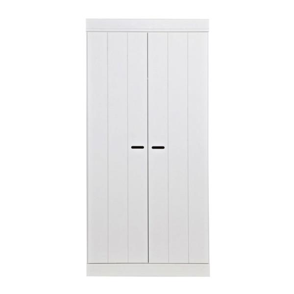 2-deurs witte kledingkast
