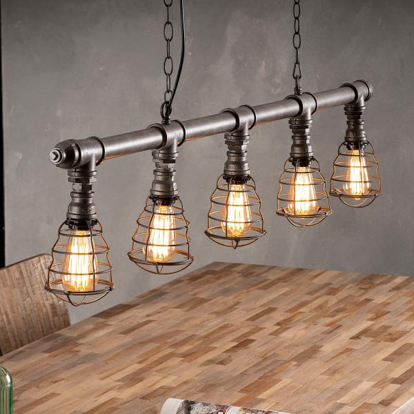 5-lichts industriele hanglamp