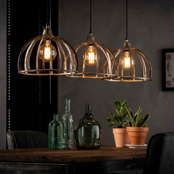 Eettafel hanglamp zandgegoten aluminium