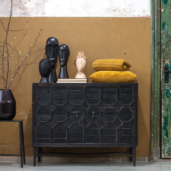 Vintage dressoir zwart hout