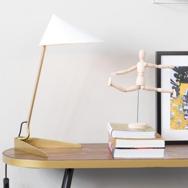 Bureaulamp met koper