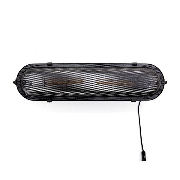 Langwerpige metalen wandlamp