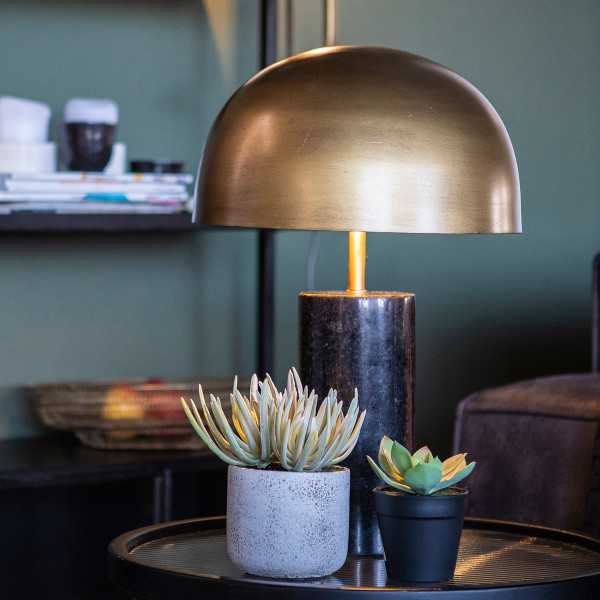 Zwart marmeren tafellamp