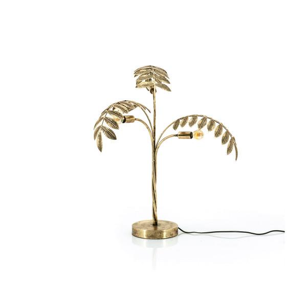 Tafellamp met gouden bladeren