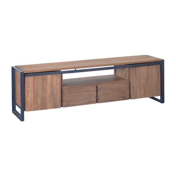 Industrieel tv-meubel van hout