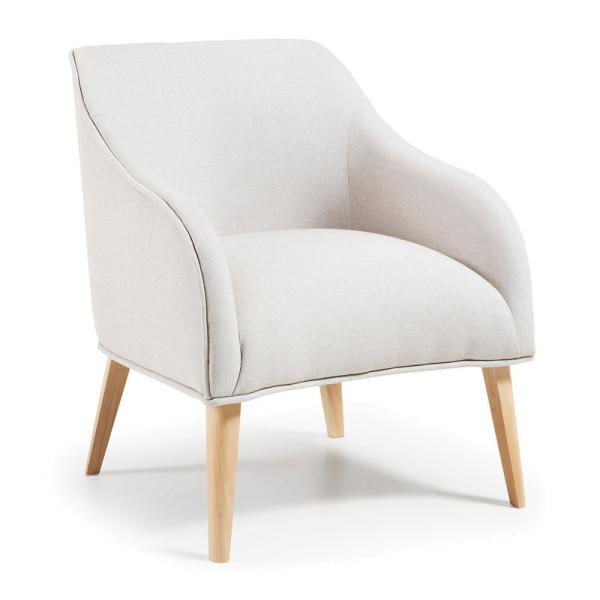 Design fauteuil met hout