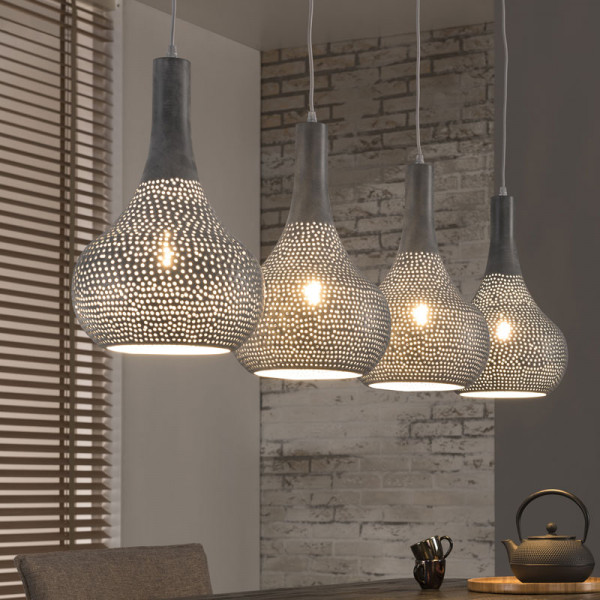 Design lamp van metaal