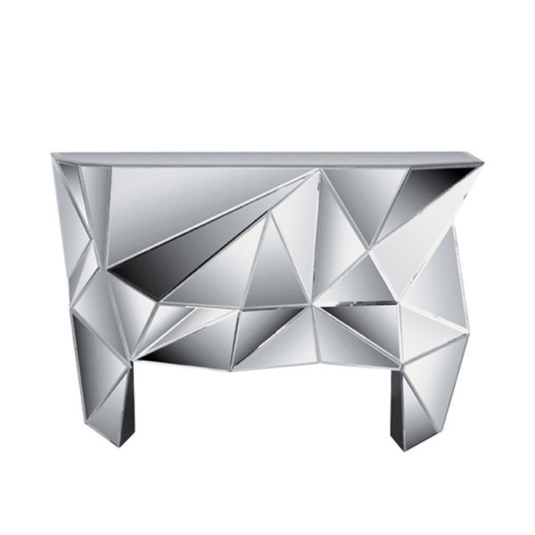 Design sidetable spiegelglas