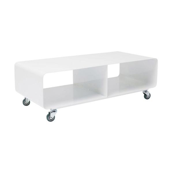 Verrijdbaar tv meubel wit