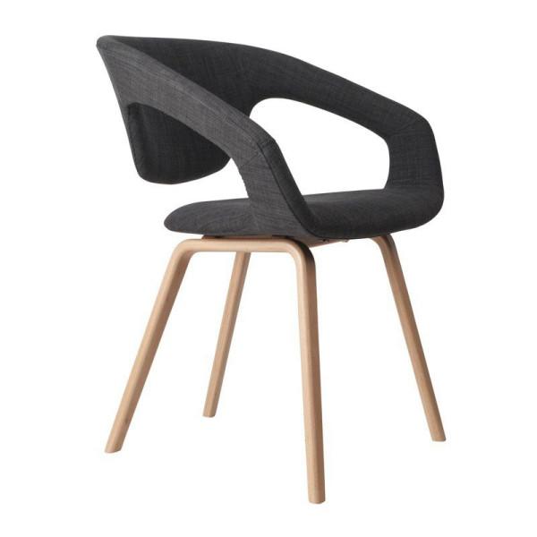 Design stoel met houten poot