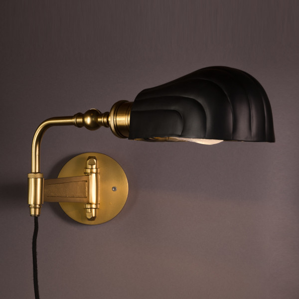 Messing wandlamp