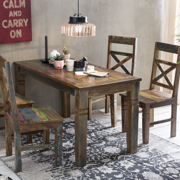 Eettafel gerecycled sloophout