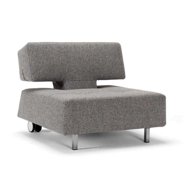 Grijze design fauteuil op wielen