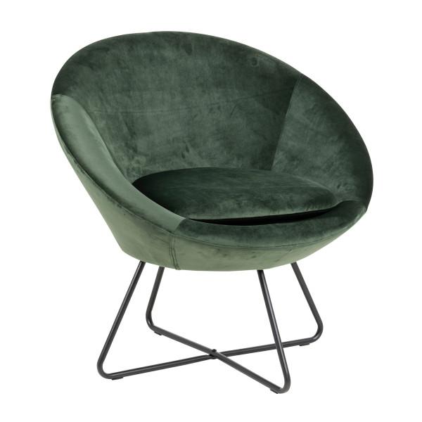 Ronde fluwelen fauteuil