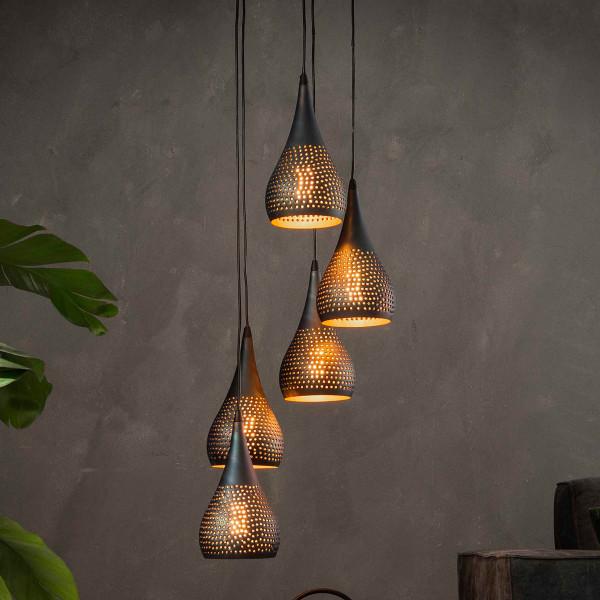 Getrapte druppelvormige hanglamp