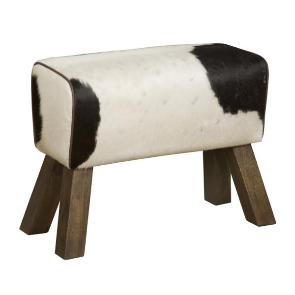 Halbankje met koeienvacht