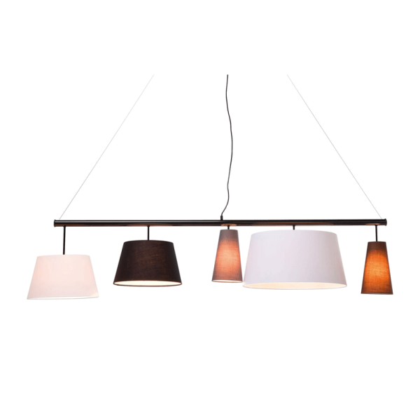 Hanglamp zwart design 165 cm