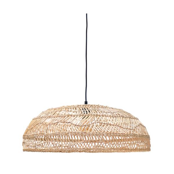 Handgevlochten rieten hanglamp