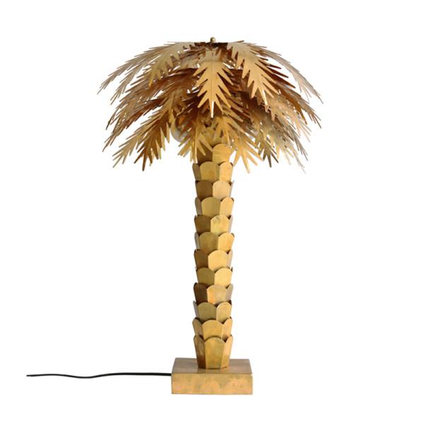 Palm tafellamp messing